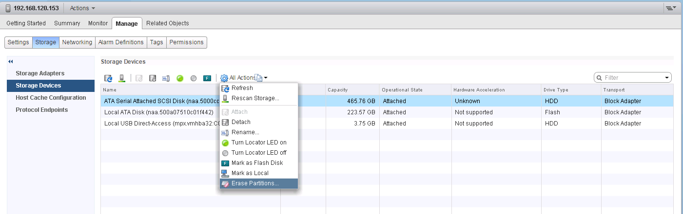 VSAN_unmounted_disks_delete_partitions