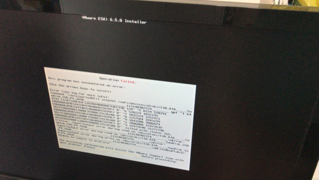 ESXi 6.5 fail to install on mSATA SSD on Supermicro E300 / E200