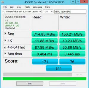 SSD NFS MTU 1500